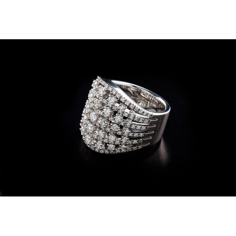 297e0d0c1f52af Bague VISCANTI 375, vente des bagues mariage diamant de luxe chez la  bijouterie et joaillerie en ligne Diamant Unique à Fès, Casa au Maroc.