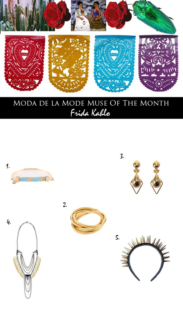 Moda de la Mode: Muse of the Month: Bejewel Yourself Like Frida