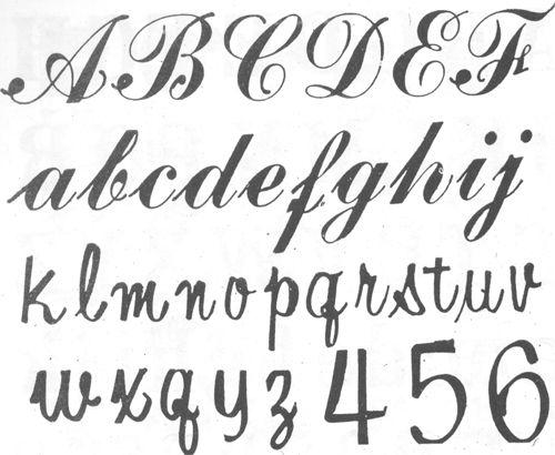 13 Estilos de letras cursivas