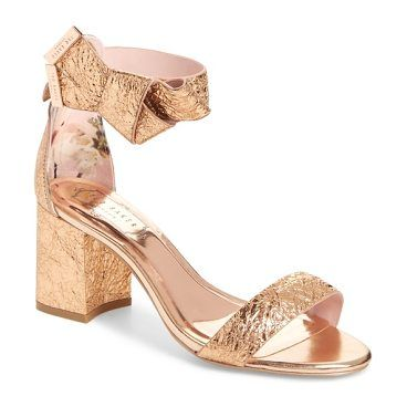 c05369c96 kerria block heel sandal by Ted Baker. Dazzle at your next party in this  golden