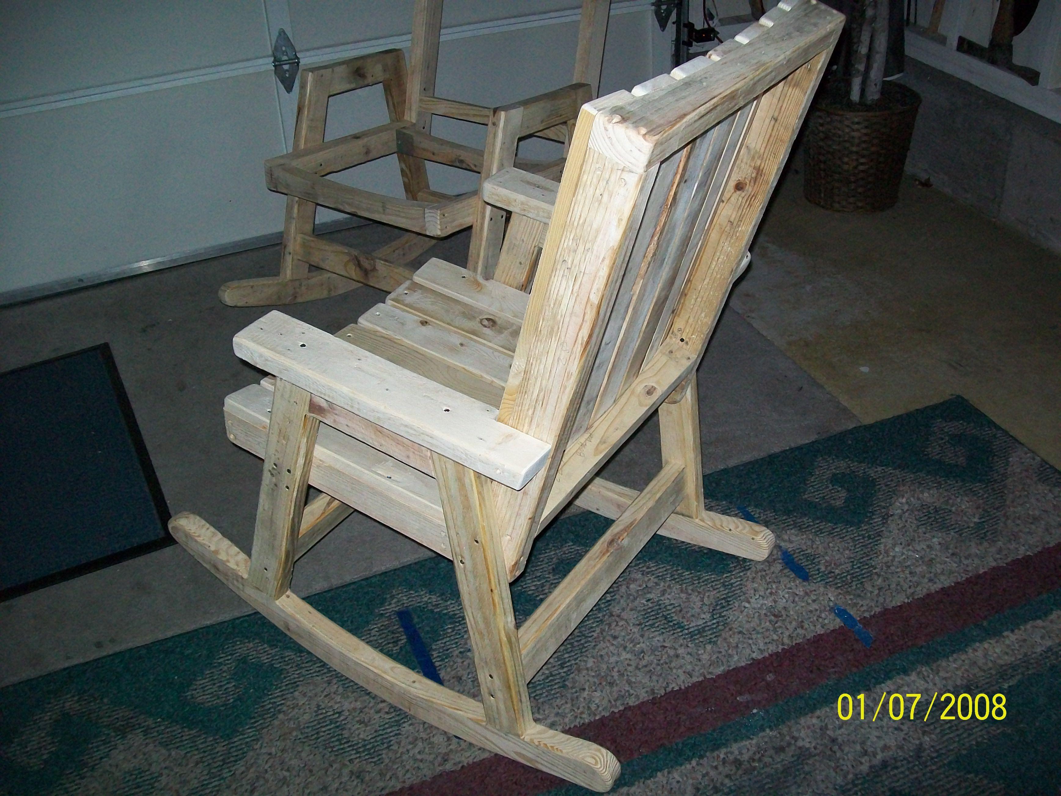 diy pallet rocking chair plans hanging price chairs rockers pinterest