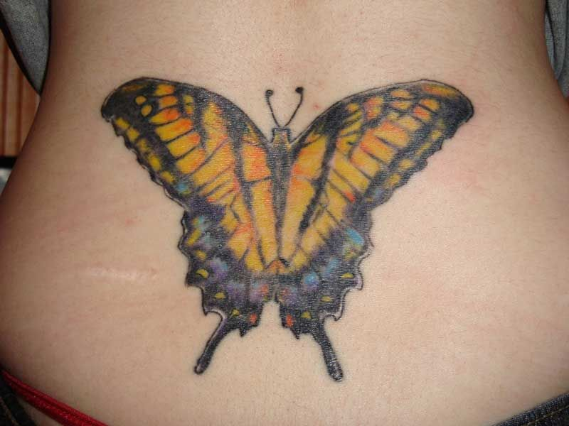 Lower Back Butterfly Tattoos For Women Girl Back Tattoos Back