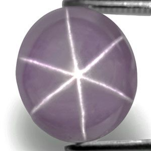 6.27-Carat Lovely Violetish Grey Star Sapphire with Sharp Star