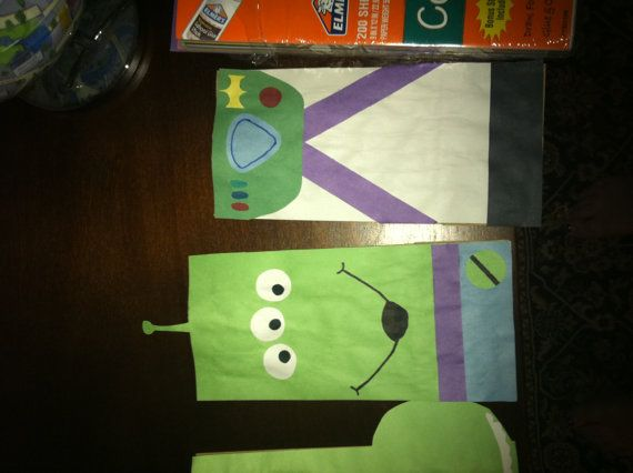 Toy Story Favor Bags for Xavier's Toy Story Birthday Party