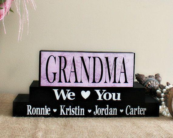 Personalized Grandma Christmas Gift, Mother\'s Day Gift, Handmade ...