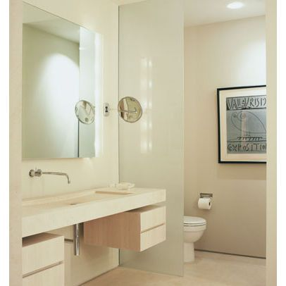 Glass Wall Or Half Wall To Separate Toilet Go For Mirrored