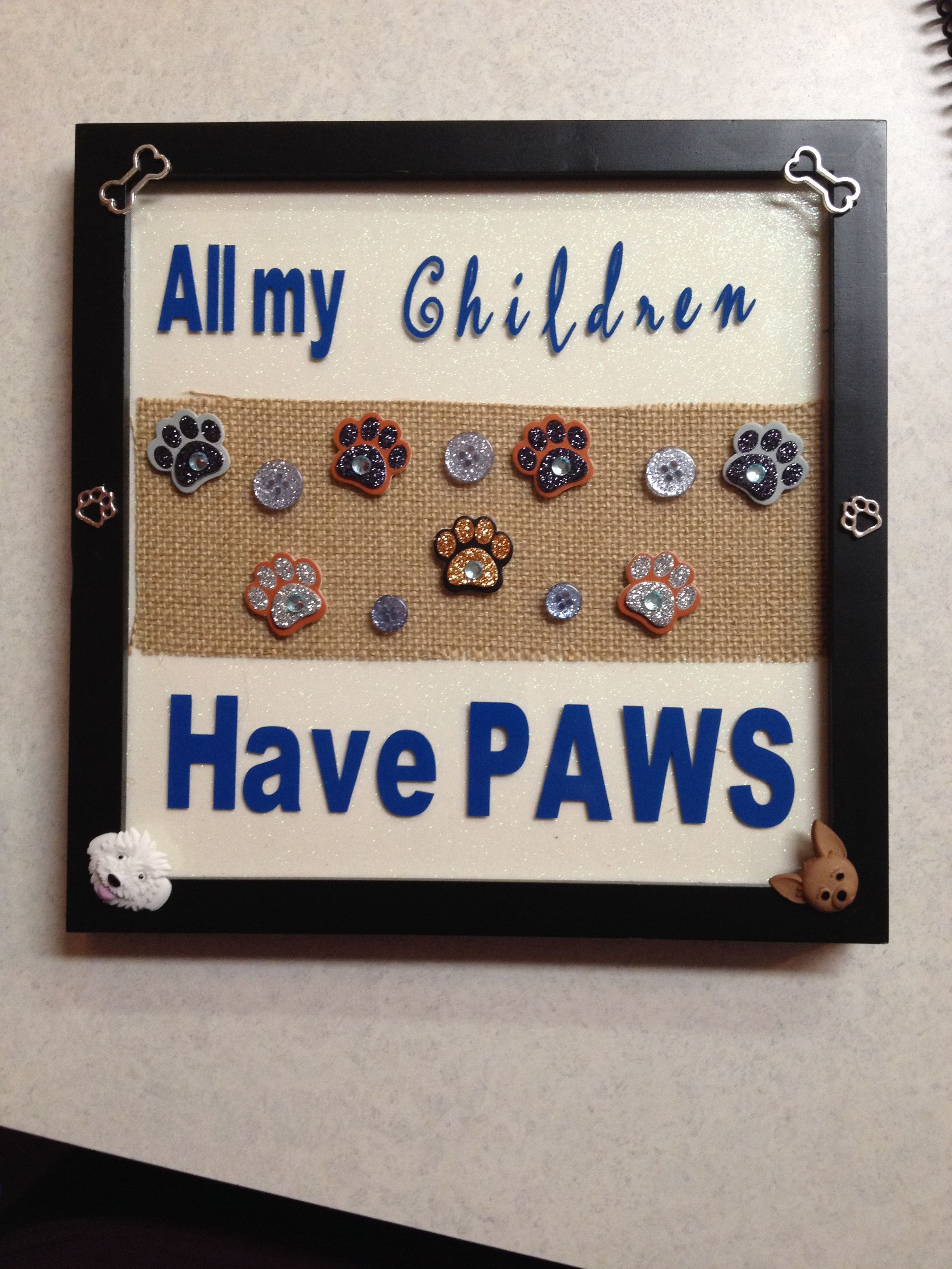All My Children Have Paws Frame