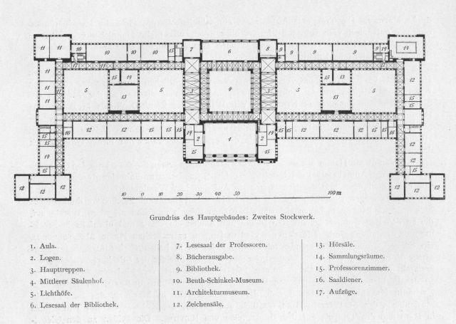 Beuth Schinkel Museum Charlottenburg Architektur Museum Grundriss Architektur