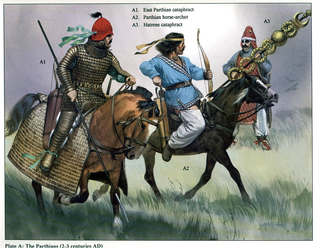 Parthian cataphract and horse archer - Angus Mc Bride