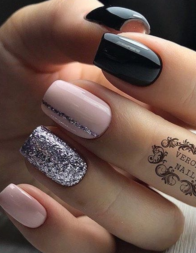 110 best natural short square nails design for Fall