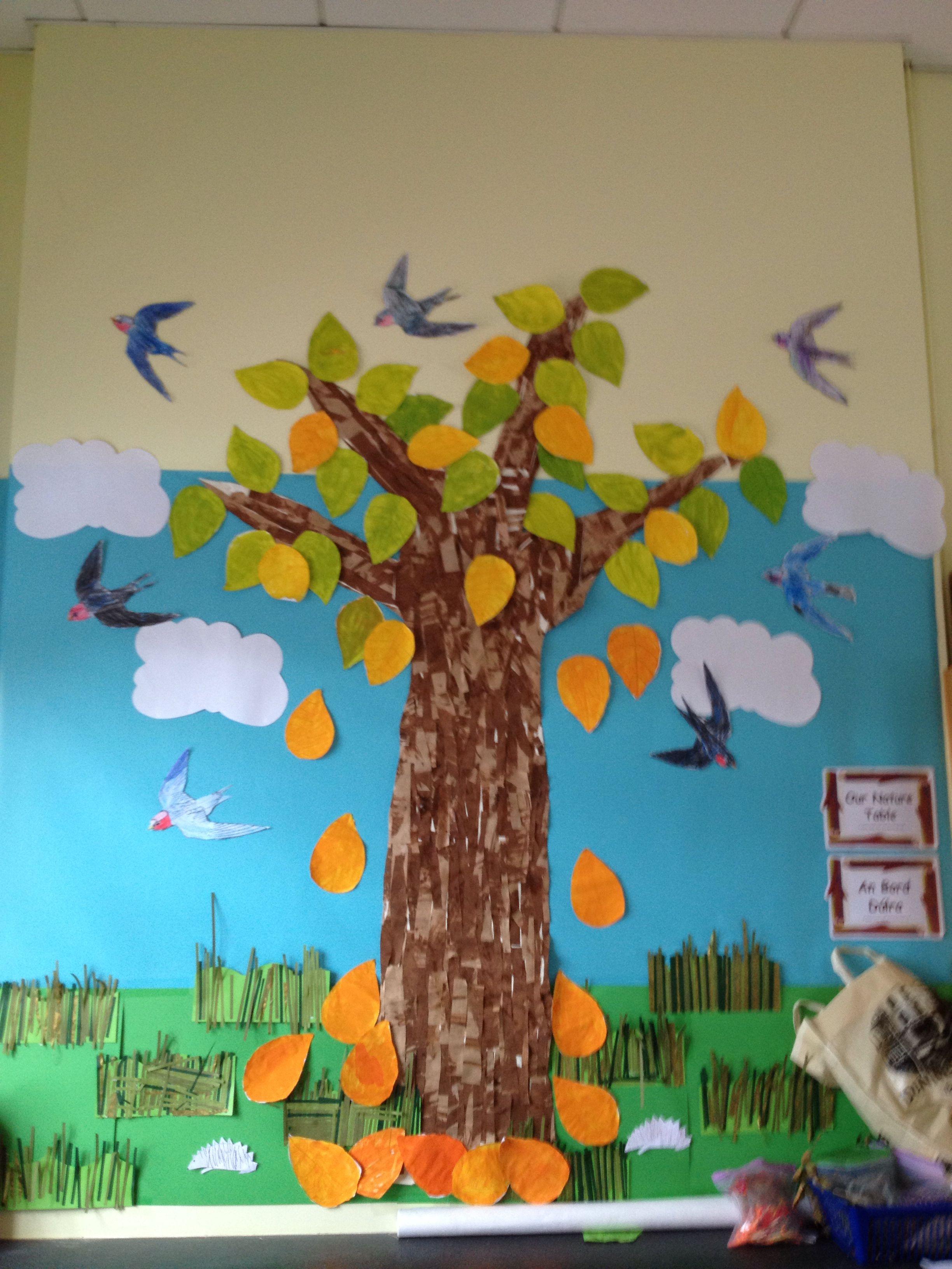 Collage autumn tree display kids art pinterest autumn trees
