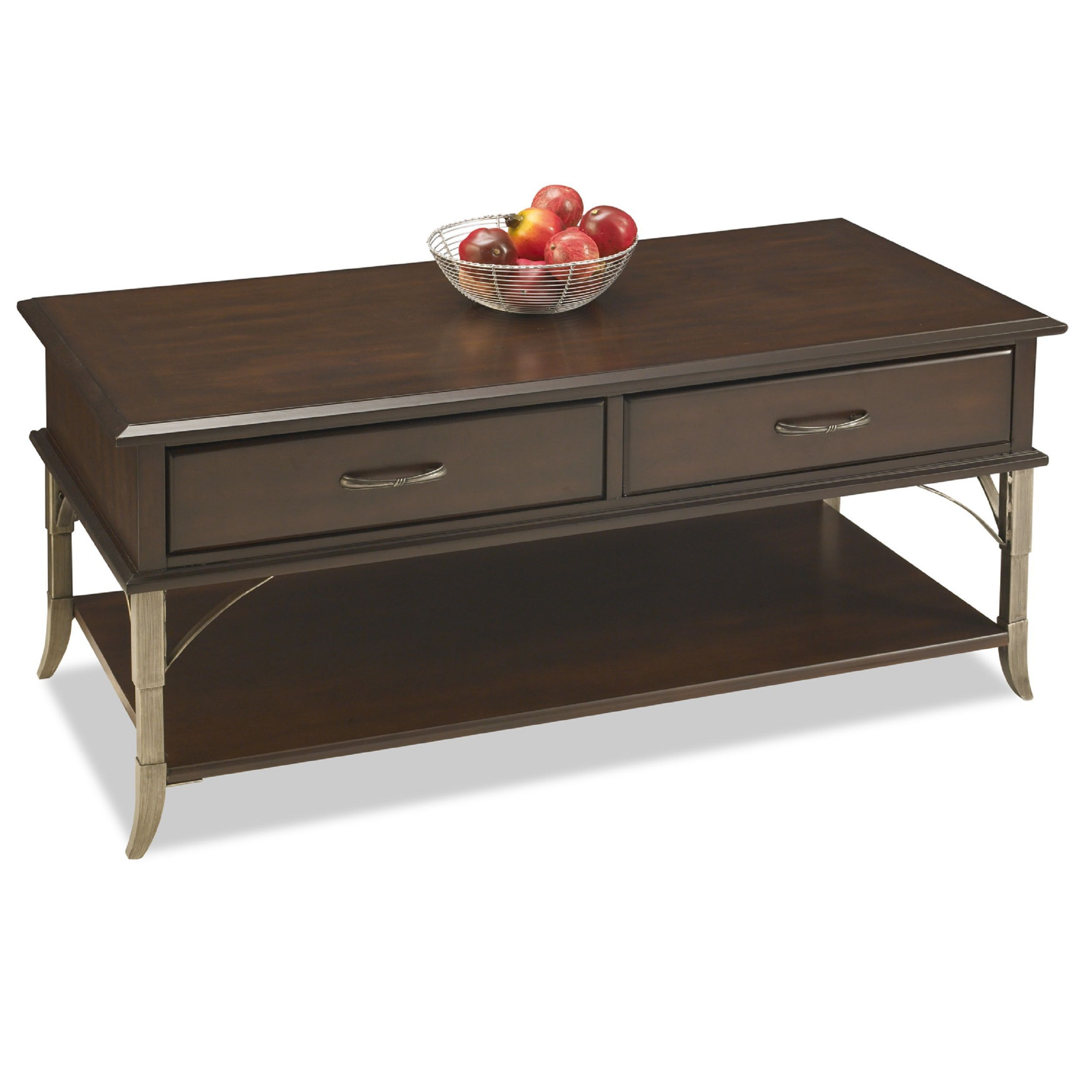 Accent Your Living Room With One Of These Transitional Style Tail Tables This Espresso Finish Table Has A Handy Shelf And Two Convenient Drawers To