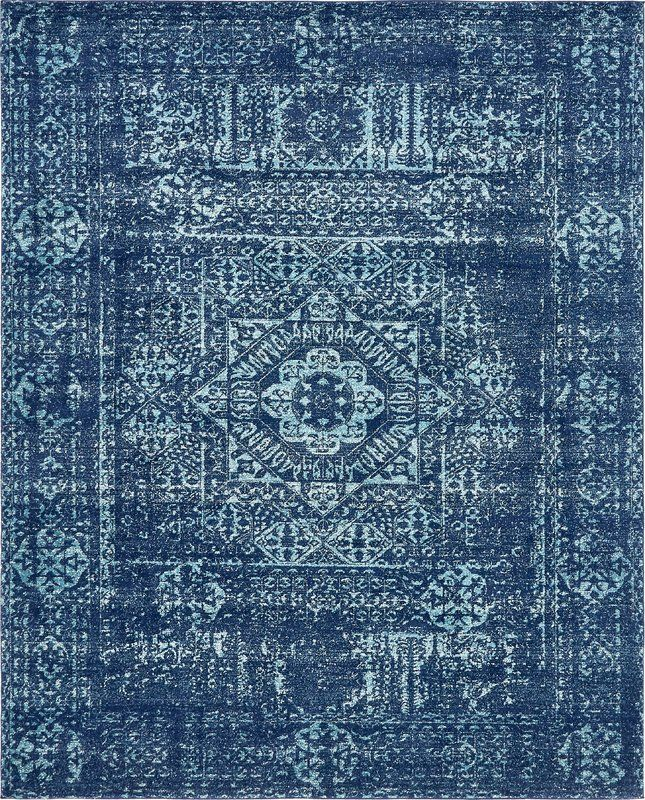 Cristian Navy Blue Area Rug In 2019 Rugs Square Rugs