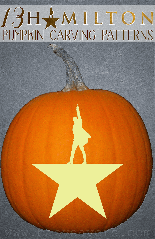 Hamilton pumpkin carving patterns and printable stencils diy