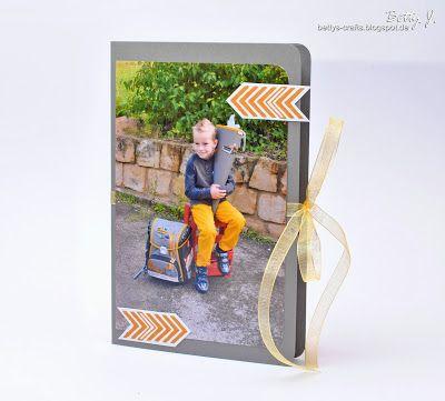 Bettys Crafts: Danksagung zur Einschulung - Kartenbox/-schachtel
