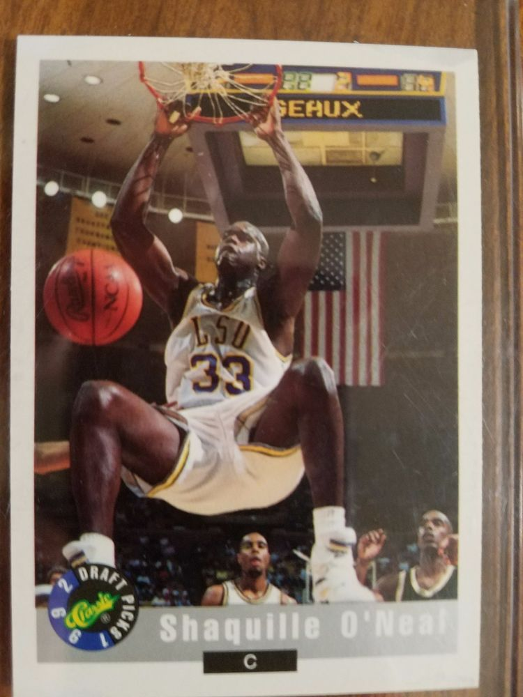 1992 classic shaquille oneal 1 basketball card