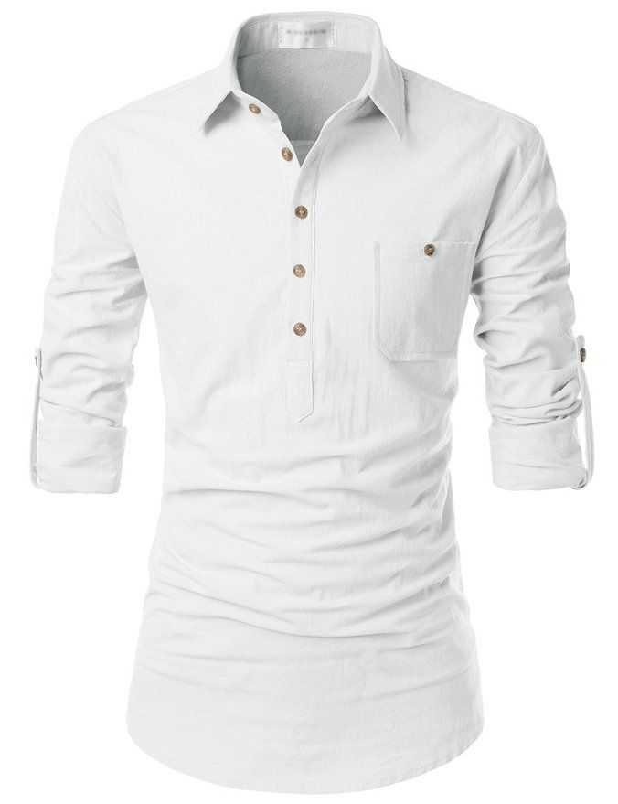 Fashion Men/'s Lapel Neck Casual T-Shirts Slim Fit Short Sleeve Cotton Shirt Tops