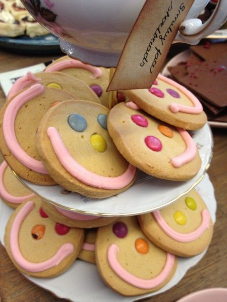 Smiley Face Shortbread Biscuits Food Kids Meals Shortbread Biscuits