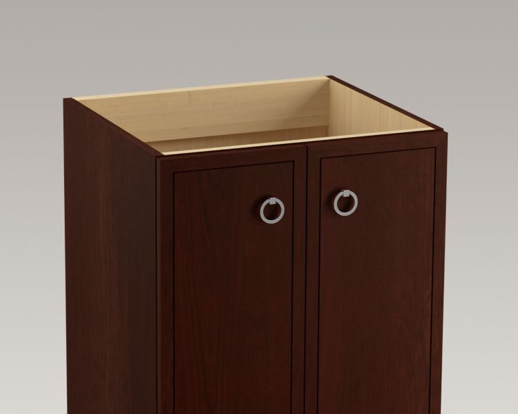 24 Inch Bathroom Vanity With Legs kohler | k-99500-lg | jacquard 24-inch vanity with legs, 2 doors