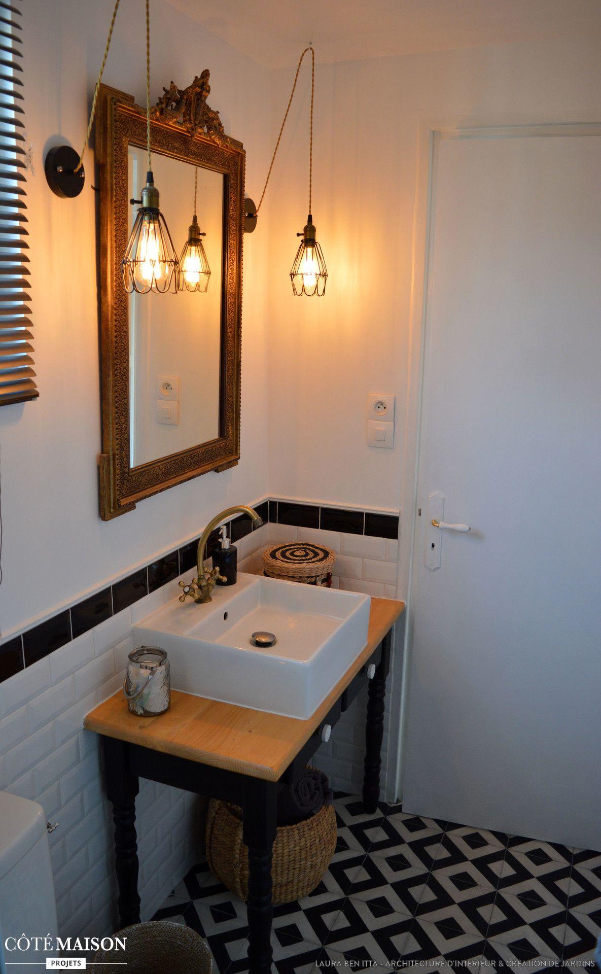 Luminaire Salle De Bain Style Industriel une salle de bain au style rétro-chic / industriel