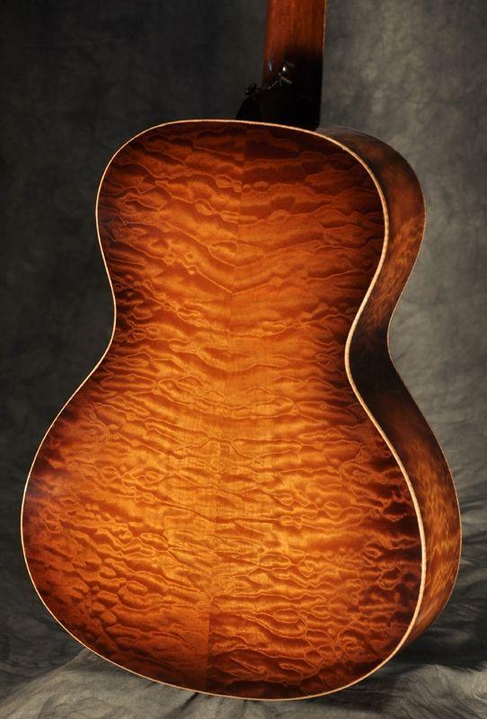 Custom made Nick Lucas style acoustic guitar in quilted maple and ... : quilted maple acoustic guitar - Adamdwight.com