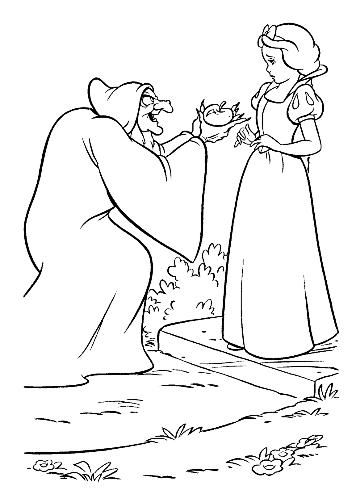 Blancanieves Y Bruja Witch Coloring Pages Disney Coloring Pages Snow White Coloring Pages