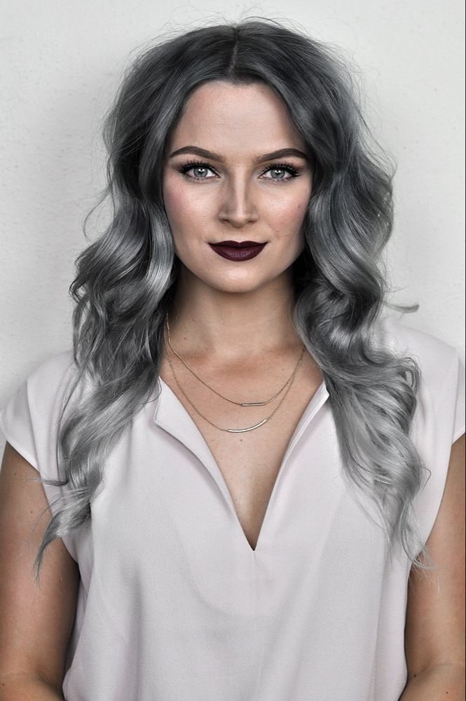 Silver Ombre Hair Dye Tutorial with oVertone #dyeingtutorials Silver Ombre Hair Dye Tutorial with oVertone | MayaLaMode #dyeingtutorials