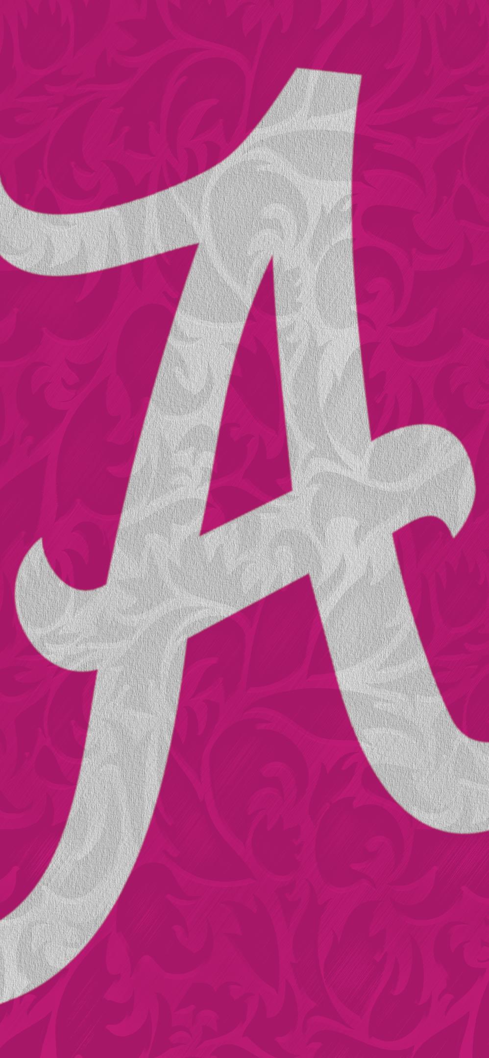 Big A Pink Alabama Wallpaper Alabama Crimson Tide Football Crimson Tide Football
