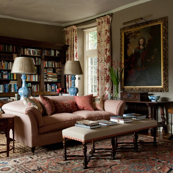 British Apartments: Traditional English Living Room, Mix Antiques From