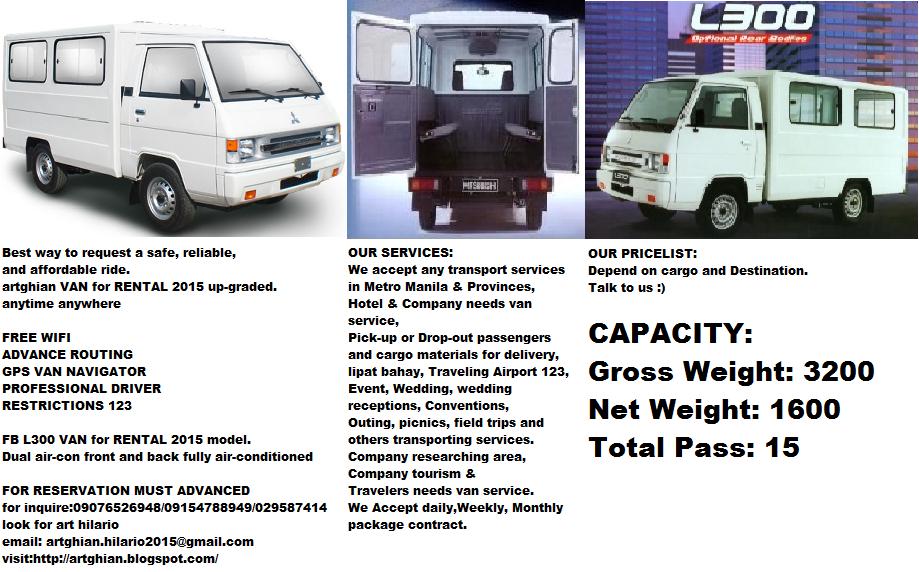 9abaf6ad59 FB L300 van for rental 2014 model.  2015 moving transport services Best way  to request.