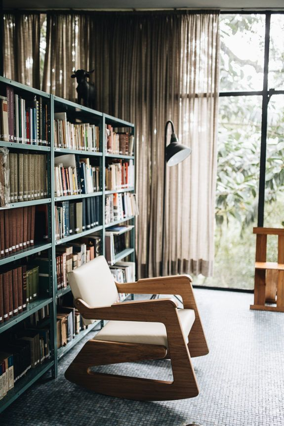 Private Library Study Rooms: Interior, Glass House, Modern Room