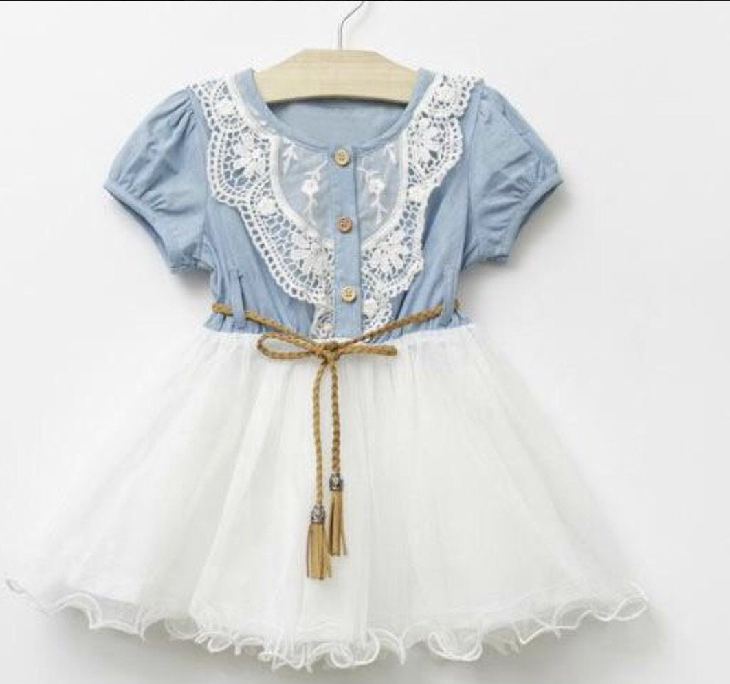 Country chic farm party dress birthday girl dress first