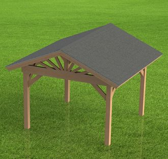Gazebo Plans Hip Roof Perfect For Hot Tubs 12 X 12