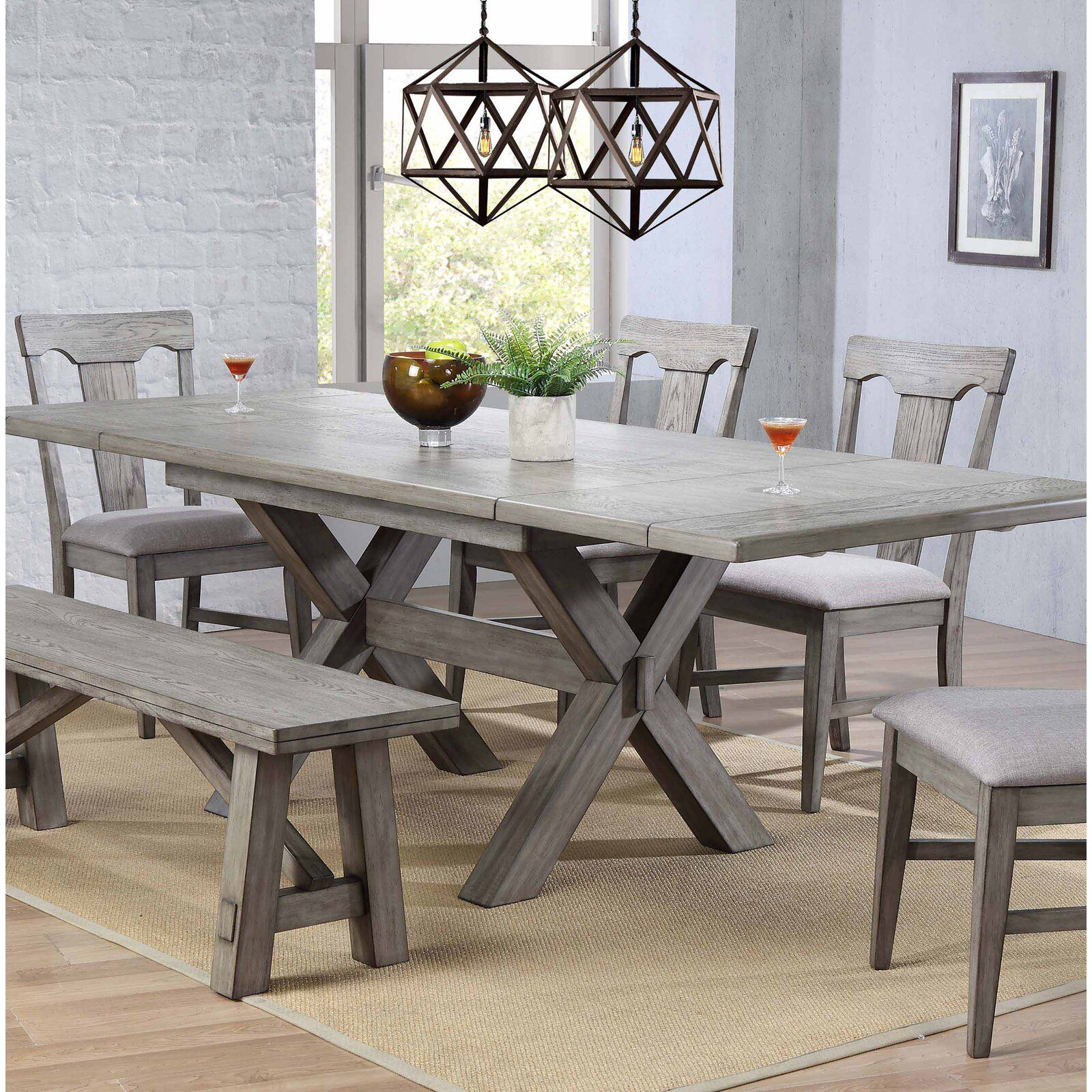 Ophelia Co Vergara Trestle Table Wayfair Dining Table In Kitchen Dining Room Table Solid Wood Dining Table