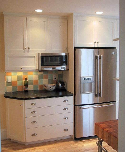 Over The Counter Microwave Just And Cabinets It Doesn T Have To Go A Stove Looks Pretty Chic Like This In My Opinion