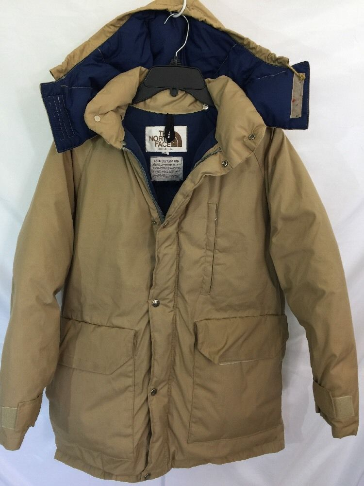 e8342f026 MENS S VINTAGE THE NORTH FACE BROWN TAG USA Hood DOWN JACKET COAT ...
