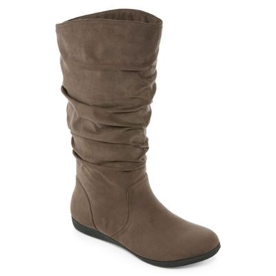 eb60f66c4e5db jcpenney - St. John s Bay® Jamie Womens Suede Slouch Boots - jcpenney