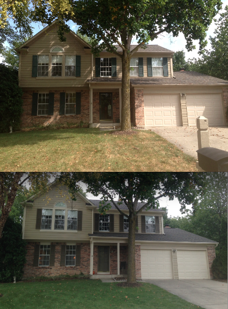 Top Before Below After With Sw Universal Khaki Siding