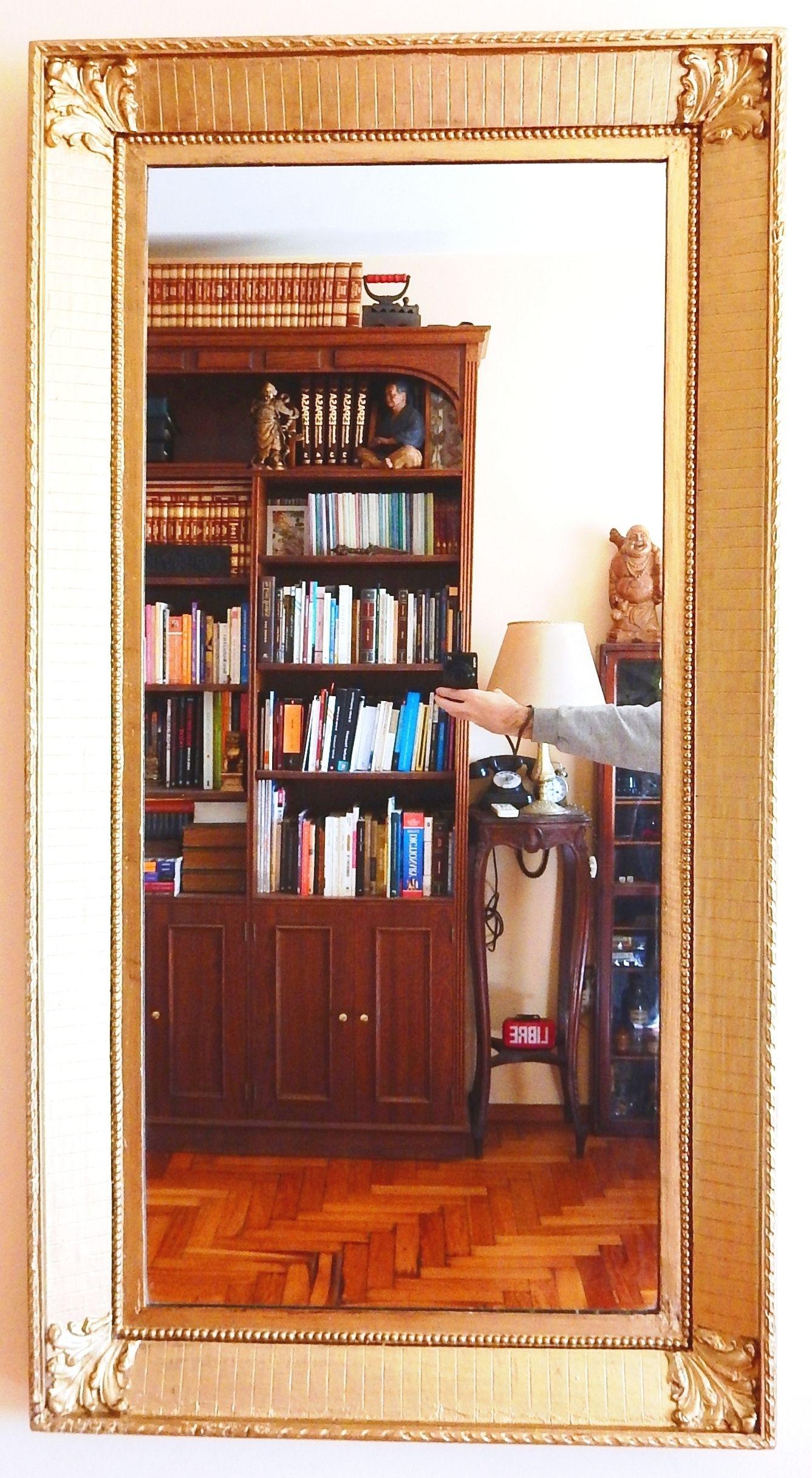 Espejo Antiguo Frances Marco de estilo dorado a la hoja Medidas ...