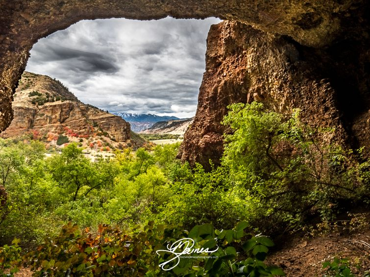 Looking Out Of A Cave In The Red Narrows Just Outside Of Salt Lake City Utah To Purchase The Scene From Above Visit Utah Photography Landscape Photography