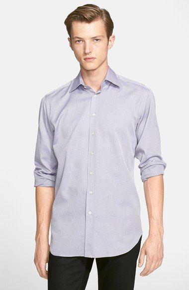 Men's Etro Trim Fit Textured Sport Shirt