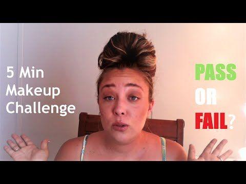 5 MINUTE MAKEUP LOOK | CHALLENGE! - YouTube | Makeup ...