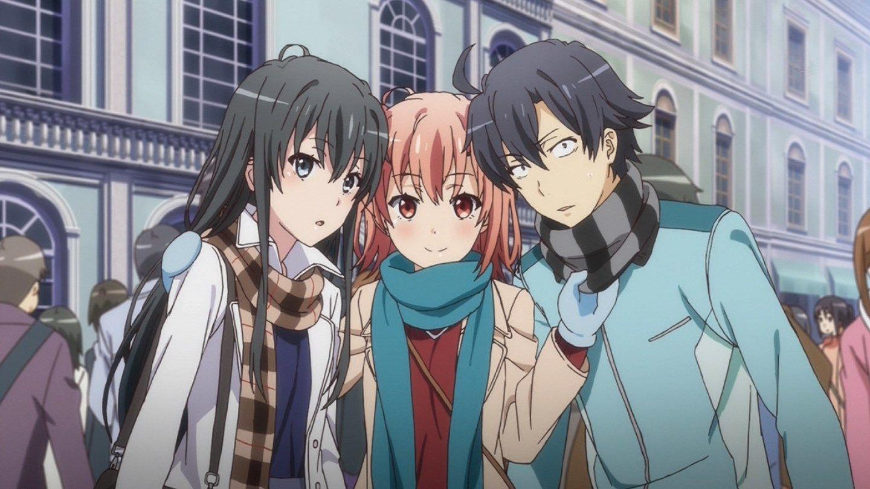 Yukinoshita Yukino, Yuigahama Yui and Hikigaya Hachiman