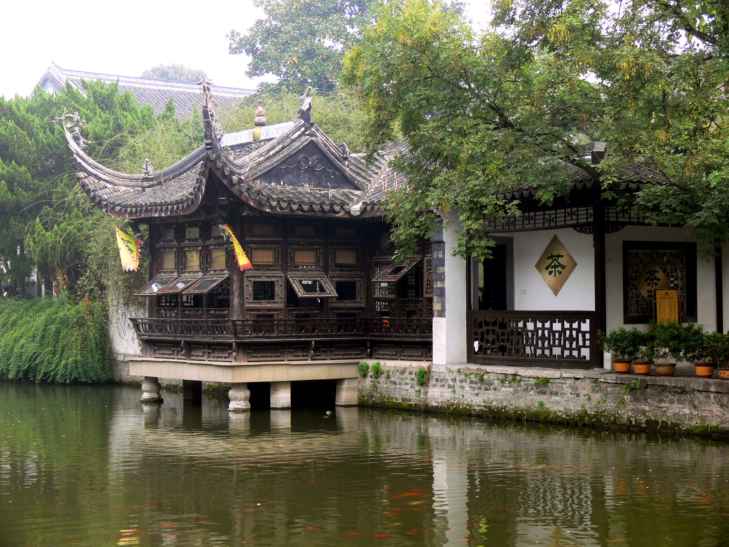 What did people use for shelter in ancient China?
