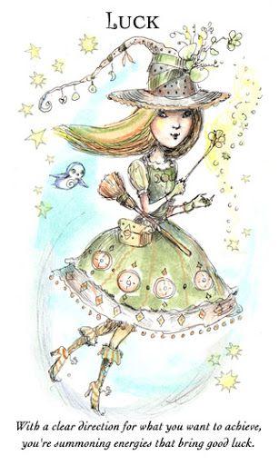 Nguy cơ Lá Luck - Witchlings Deck bài tarot Xem thêm tại http://tarot.vn/la-luck-witchlings-deck/