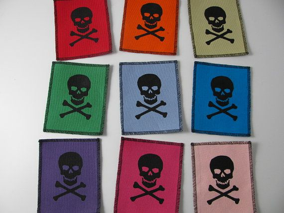 One skull and cross bones patch in any color you choose....FREE SHIPPING USA