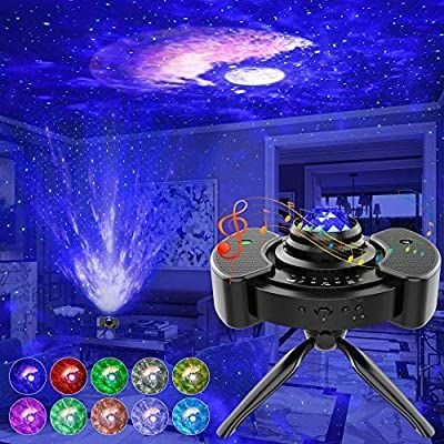 Super cool light projector! The lighting effects are great! Amazon.com: Star Projector, Night Light Projector with Stereo Speaker, Star Sky Light with Bluetooth Music Control, 14 Lighting Modes&Brightness Adjustment Starry Projector for Kids Bedroom/Game Room/Home Theatre: Baby