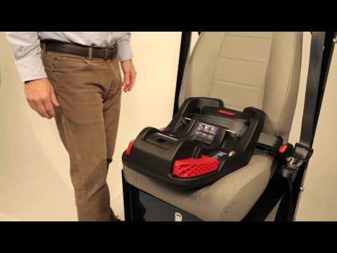 How To Install The Britax B Safe 35 And Elite Infant Car Seat Base Using Lap Shoulder Belt