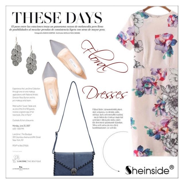 """""""Sheinside"""" by water-polo ❤ liked on Polyvore featuring Jimmy Choo, vintage, Sheinside and polyvoreeditorial"""