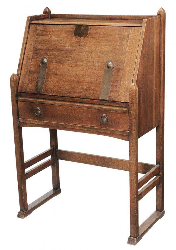 Arts And Crafts Era Desk Attributed To Gustav Stickley Drop